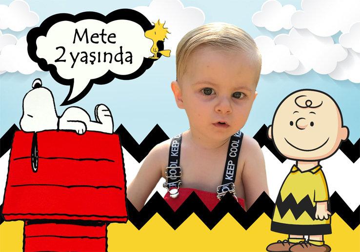 Snoopy Peanuts Temalı Afiş
