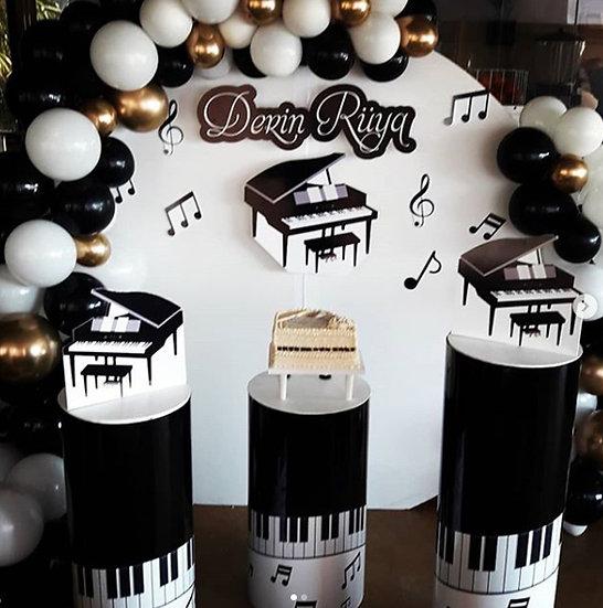Piyano Temalı Doğum Günü Organizasyonu