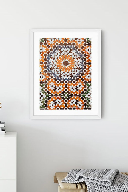 Kahverengi Vinyet Tablo Poster
