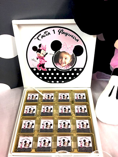 Minnie Mouse Doğum Günü Hediyelik Çikolata
