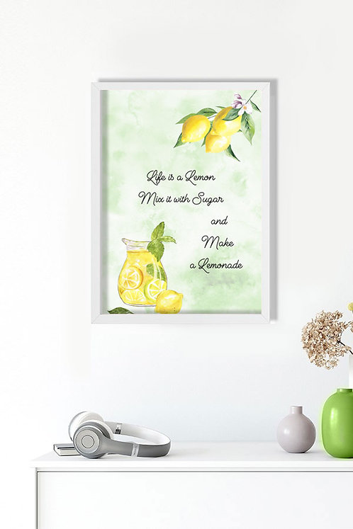 Lemon Motto Tablo Poster