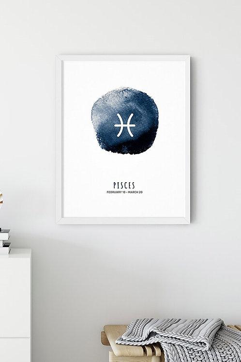 Balık Burcu Tablo Poster
