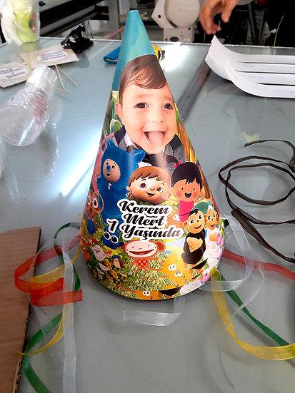 Baby Tv Temalı Doğum Günü Parti Şapkası