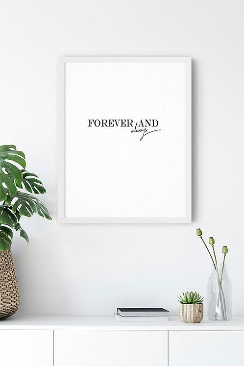 Forever Love Tablo Poster