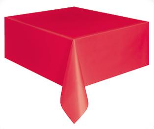 Kırmızı Masa Örtüsü Plastik