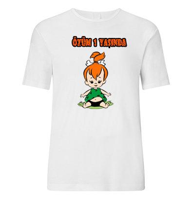 Çakıl Çakmaktaş Temalı Çocuk Baskılı Tshirt