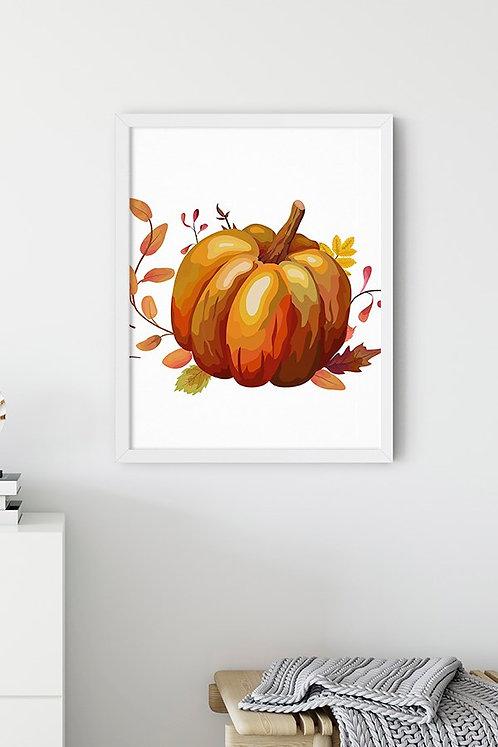 Balkabağı Pumpkin Tablo Poster Kanvas