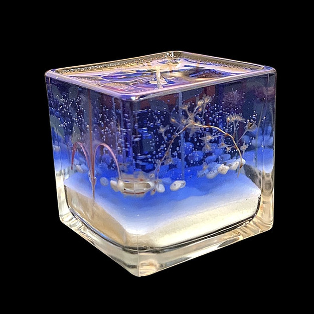 Blue gel Everglow candle