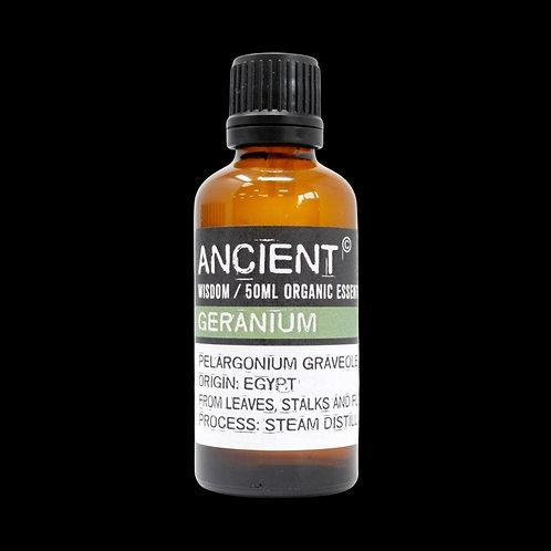Geranium ORGANIC essential oil - 50ml