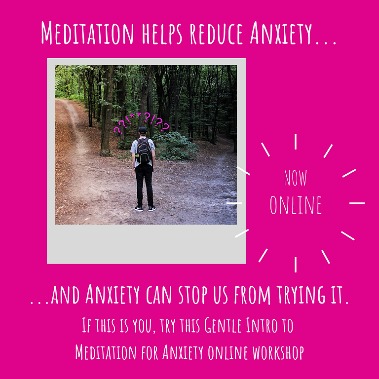 Intro to Meditation for Anxiety - online