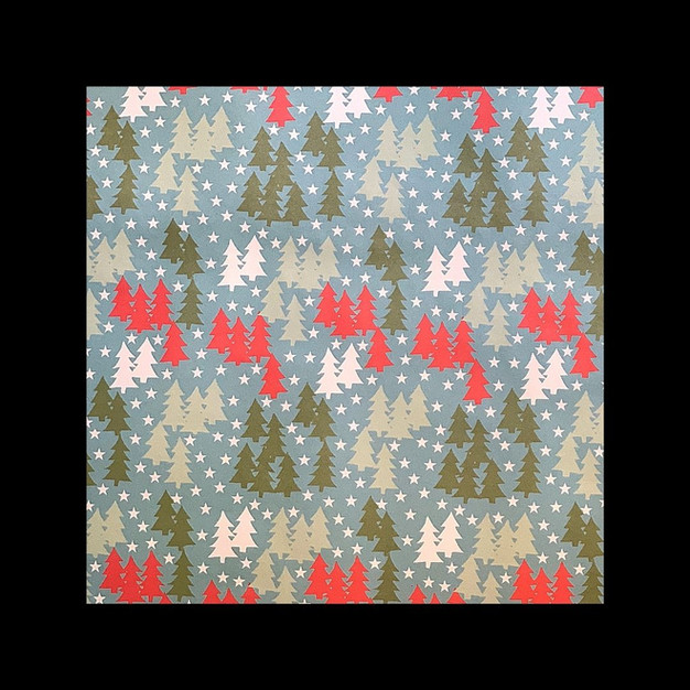 wrapping paper - Christmas trees