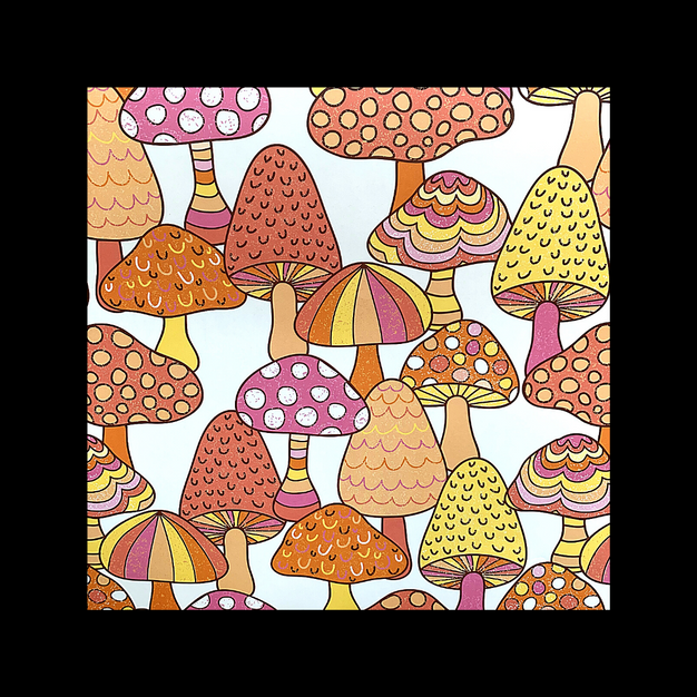 Mushroom wrapping paper