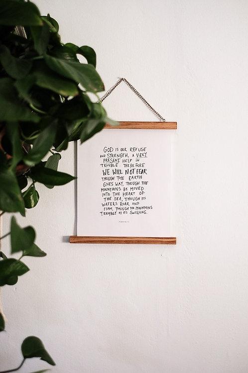 God is our Refuge Printable
