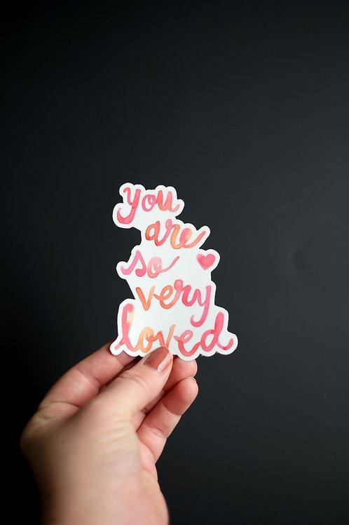 So Very Loved Sticker