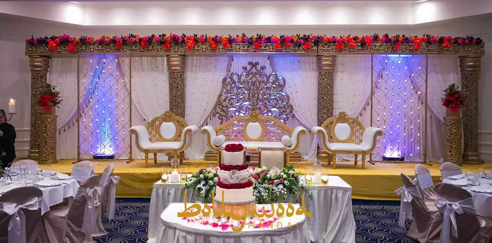 Bollywood mandaps melbourne mandap melbourne mandap hire gold wedding stage 3 of 35g junglespirit Choice Image