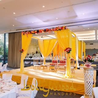 Fabric Mandap Yellow Bollywood Melbourne