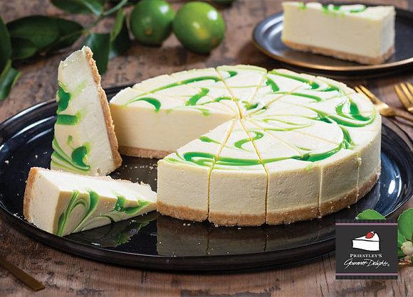 Lime Swirl Cheesecake Pre Cut (135GX16) (2)