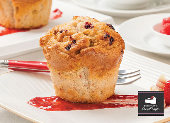 Priestleys Raspberry & White Chocolate Muffin (137GX6) (4)