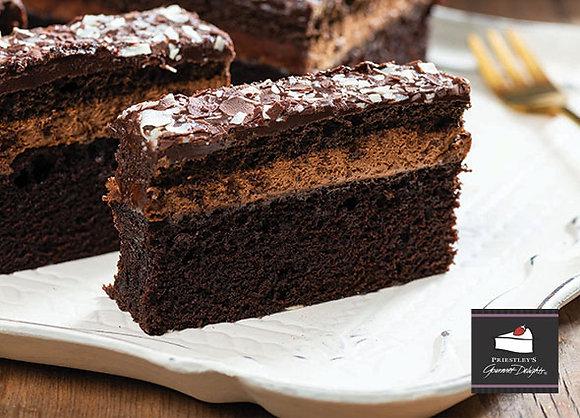 Priestleys Chocolate Mud Log Cake Whole (100GX12) (6)