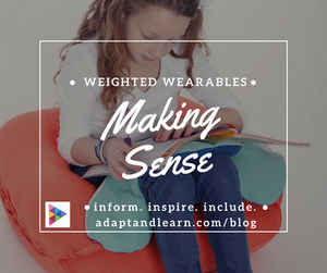 weighted wearables sensory products