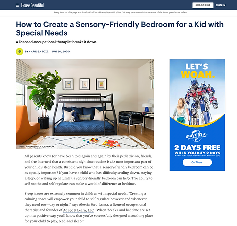 house beautiful sensory friendly bedroom design