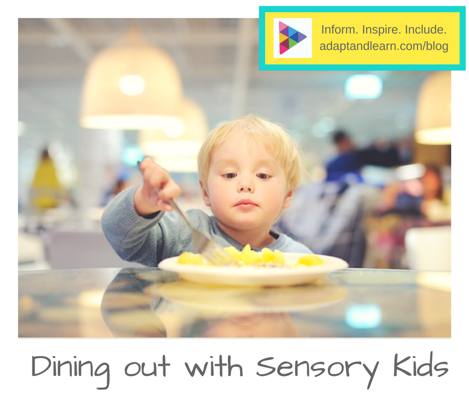 dining out with sensory kids