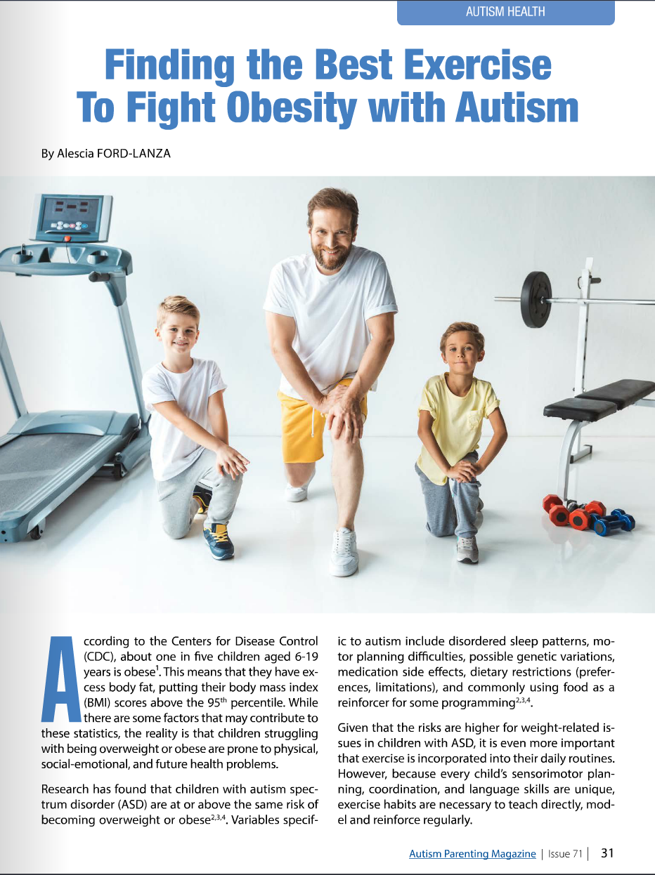 adapt and learn, autism parenting magazine, exercise and autism