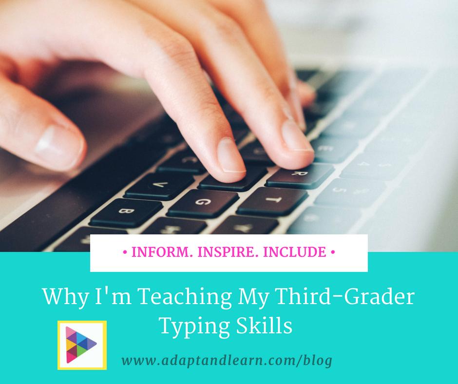 teaching typing keyboarding skills kids