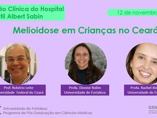 Seções clínicas com profissionais da saúde em centros hospitalares sobre melioidose