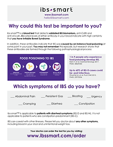 IBS Test Patient discussion guide for diagnosing IBS with ibs-smart™