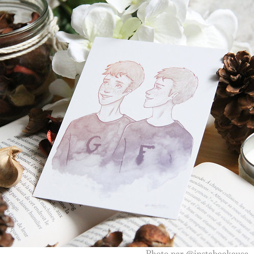 Fred et George Weasley harry potter format A6 - 10,5x14,8 cm