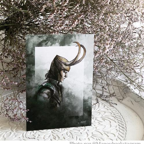 "Illustration carte A6 ""Loki"""