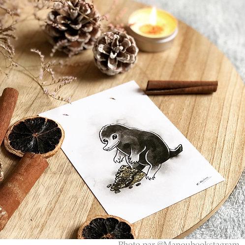 Niffleur animaux fantastiques harry potter format A6 - 10,5x14,8 cm