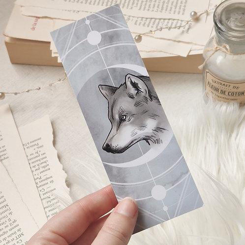 Petit marque-page Loup