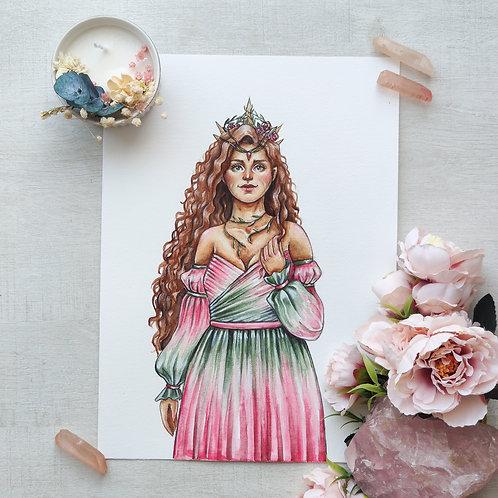 Original art :  La reine du printemps
