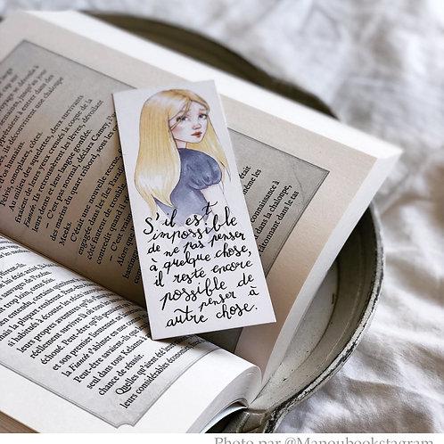 "Marque-page petit format ""Alice"""