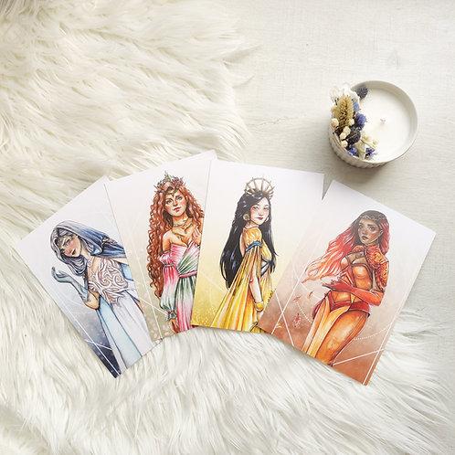 """Cartes A6 """"Les reines des saisons"""""""