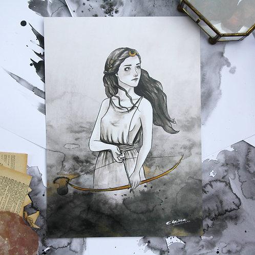 "Illustration format A4 ""Artémis"""
