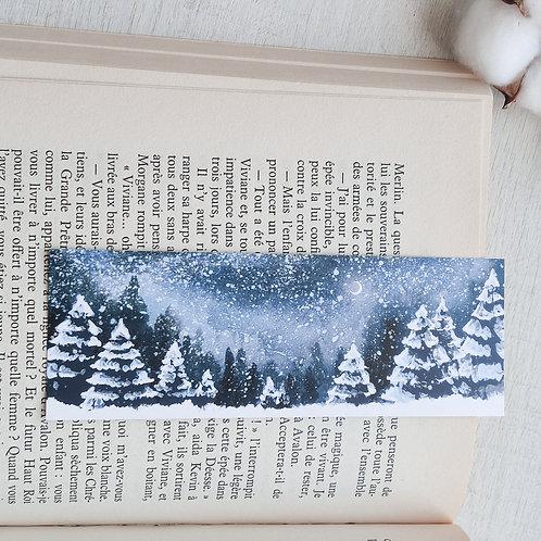 Marque-page petit format Neige