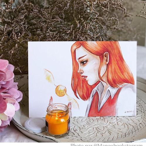 """Illustration format A5 """"Ginny"""""""