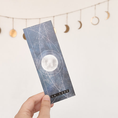 Petit marque-page La lune