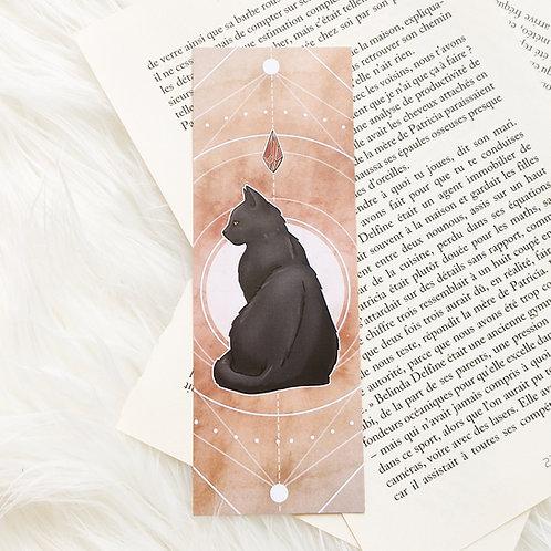 Petit marque-page chat automne
