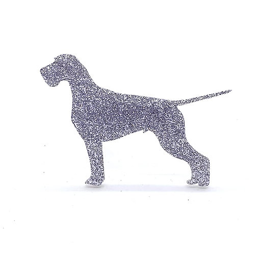 GERMAN WIREHAIRED POINTER - Standard Silver Glitter