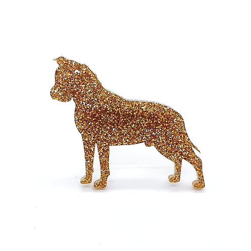 AMERICAN STAFFORDSHIRE TERRIER - Premium Holographic Amber