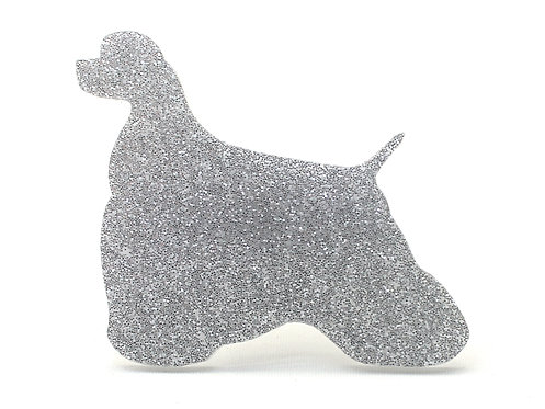 COCKER SPANIEL (AMERICAN) - Standard Silver Glitter