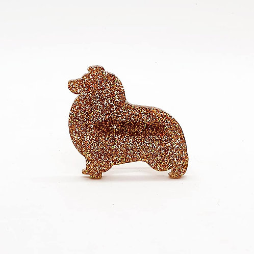 SHETLAND SHEEPDOG - Premium Holographic Amber