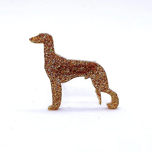 SALUKI - Premium Holographic Amber