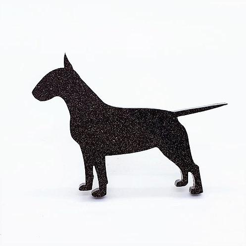 BULL TERRIER - Standard Black Glitter