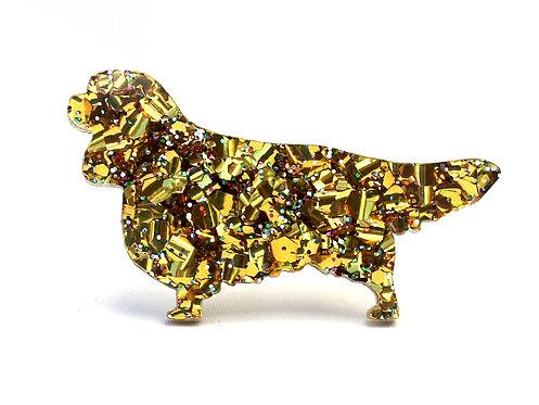 CAVALIER KING CHARLES SPANIEL - Chunky Gold Rainbow