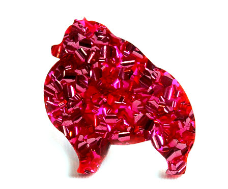 POMERANIAN - Chunky Hot Pink